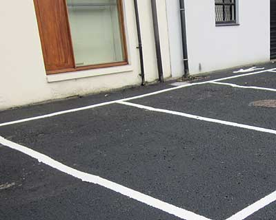 Car park sealed with Driveway Restorer fluid
