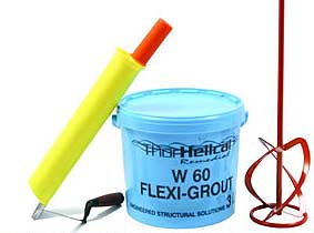 Crack filling  - powder to mix, apply with a grouting tool or trowel
